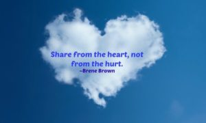 Share from the heart
